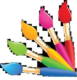 Кисточки, краски, акварели, гуашь и другое