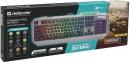 Клавиатура Defender Stainless steel GK-150DL RU. RGB проводная, игровая, подсветка, 9 режимов 0