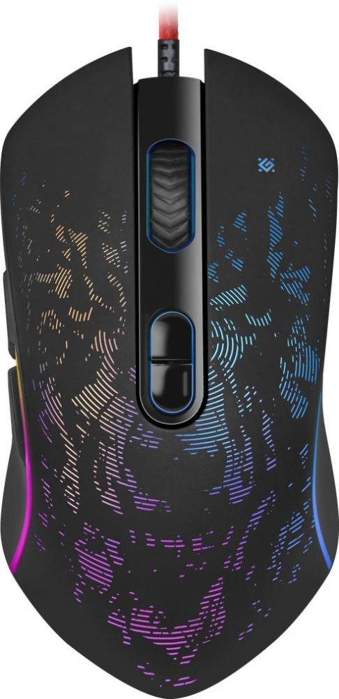 Мышь Defender Witcher GM-990 RGB, проводная игровая, 7 кнопок 3200dpi