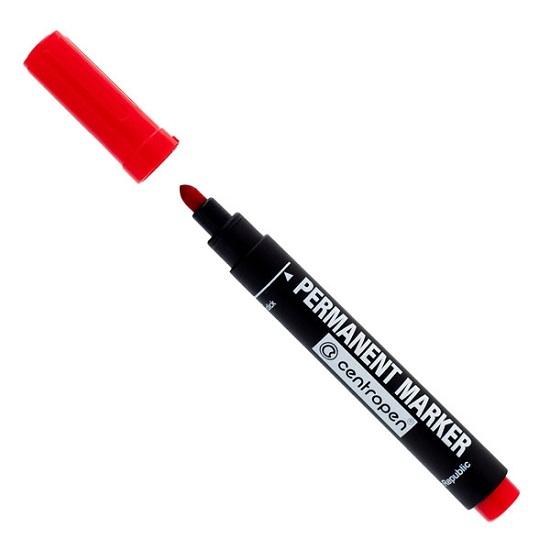 Маркер перманентный Centropen широкий 2,5 мм красный арт.8566 0104