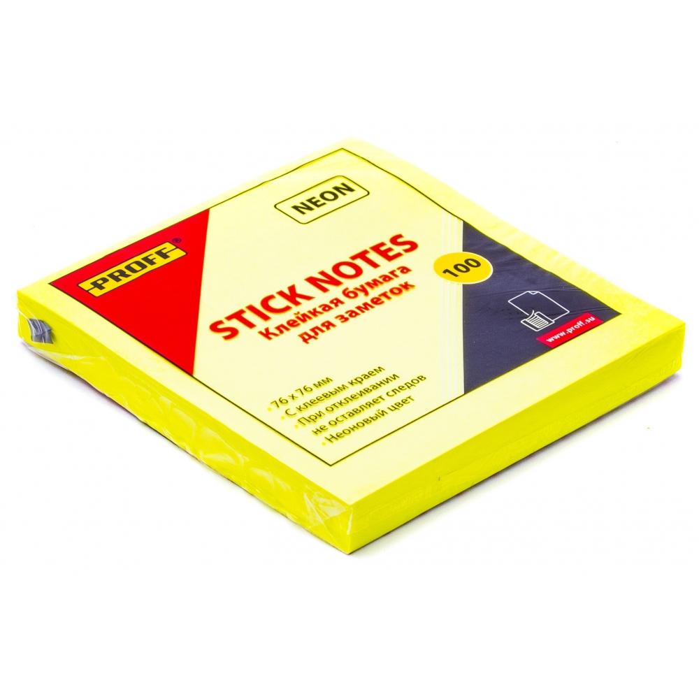 Блок д/записи липкий 38*50мм, 100л., жёлтый