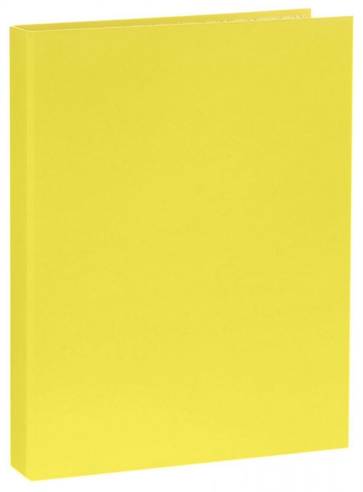 Папка-регистратор А4 на 2 кольцах, ламинированная, жёлтый неон