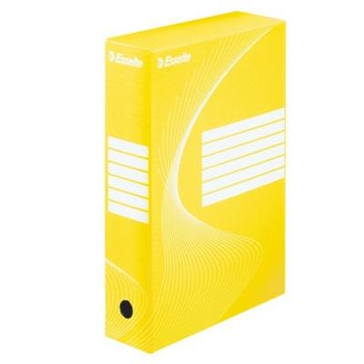 Коробка архивная 100мм. желтая арт.128423