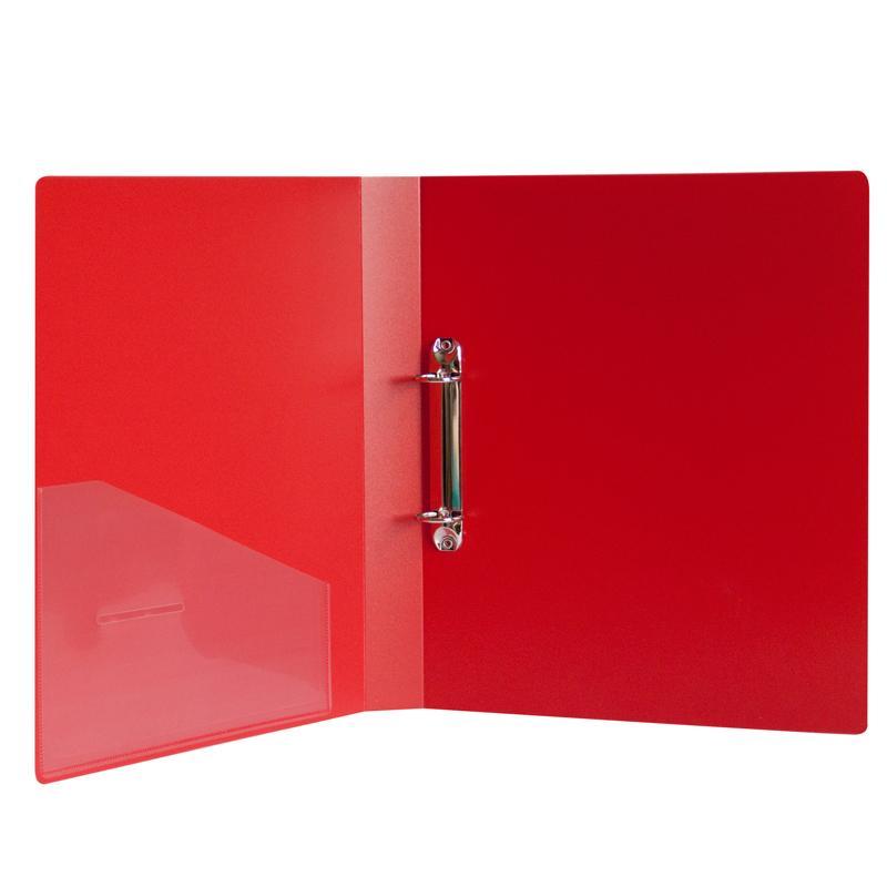 Папка-регистратор на 2 кольца ПВХ (35 мм) красный