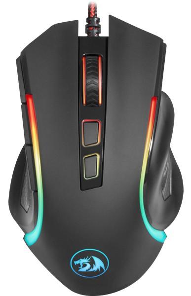 Мышь Redragon Griffin, проводная, игровая, оптика, RGB, 7200dpi