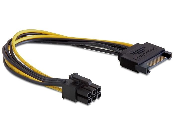 Разветвитель питания Cablexpert CC-PSU-SATA, SATA->PCI-Express 6pin,для подключения в/к PCI-E(6pin) к б/п ATX