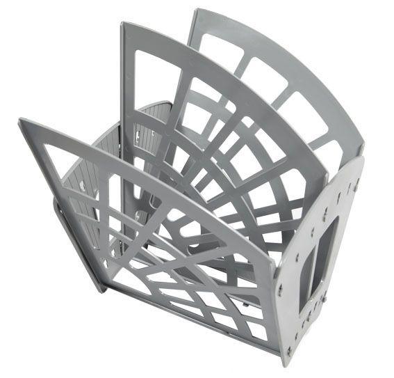 Лоток для бумаг вертикальный ЭКОНОМ, 3 секции, 2 отделения, серый