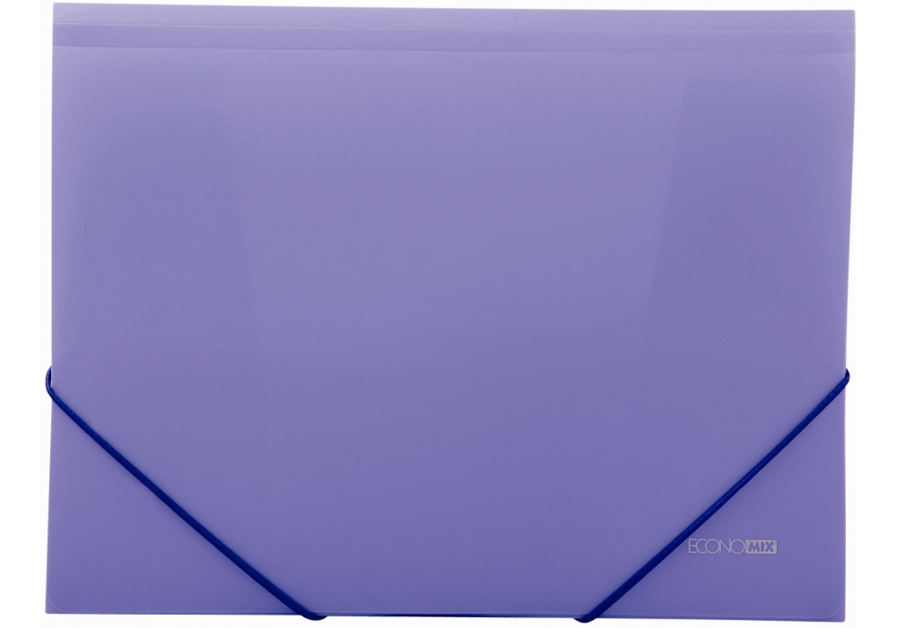Папка на резинках 15 мм Economix пластик фиолетовый