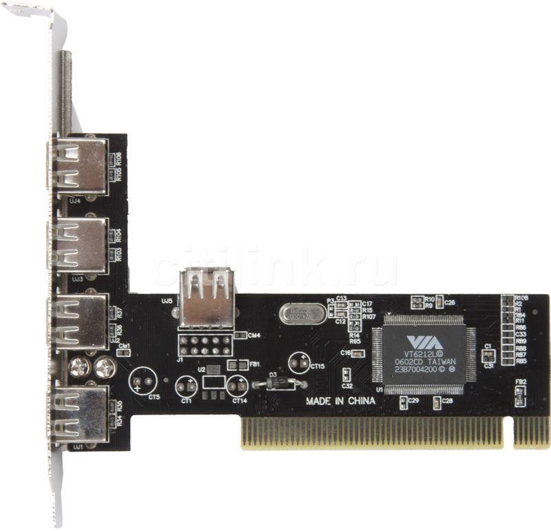 Контроллер PCI USB 2.0 (4+1)port VIA6212 bulk