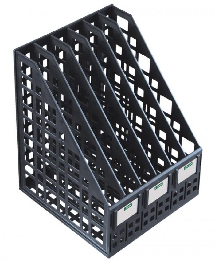 Лоток сборный вертикальный 6 отделений черный