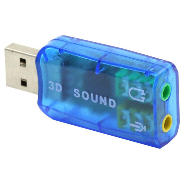 Карта звуковая USB TRUA3D ( C-media CM108) 2.0 Ret