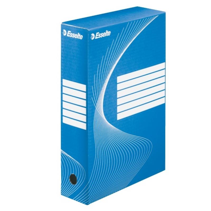 Коробка архивная 80мм. синяя арт.128411