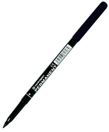 Маркер перманентный Centropen широкий 1 мм черный (светостойкие чернила) арт. 2536 0112