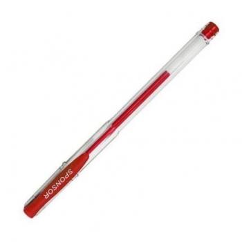 Ручка гелевая SPONSOR 0,5 мм, красная