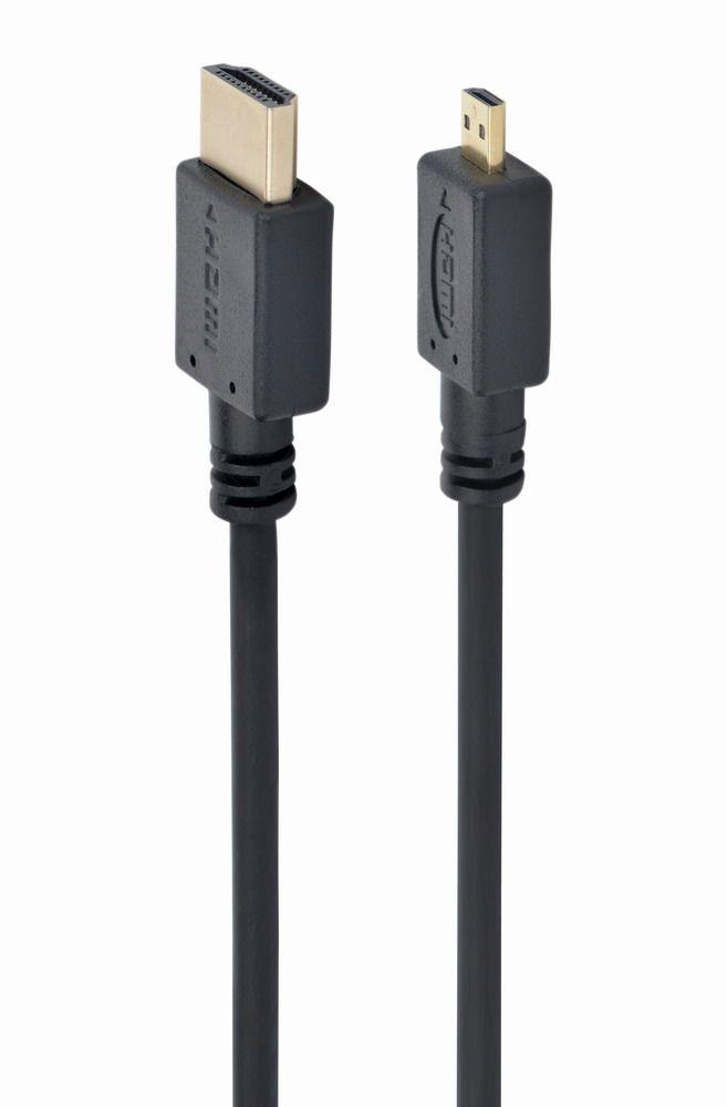 Кабель HDMI-microHDMI Cablexpert CC-HDMID-10, 3.0м, v1.3, 19M/19M, черный,позол. разъемы,экран, пакет
