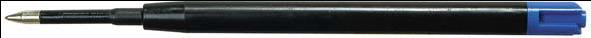 Стержень 98мм/0,8мм д/авторучек черный  мет.