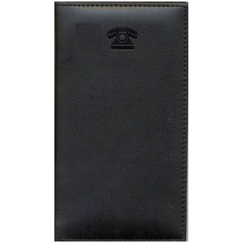 Книга телефонная 95х175 мм, ламинированная, черная