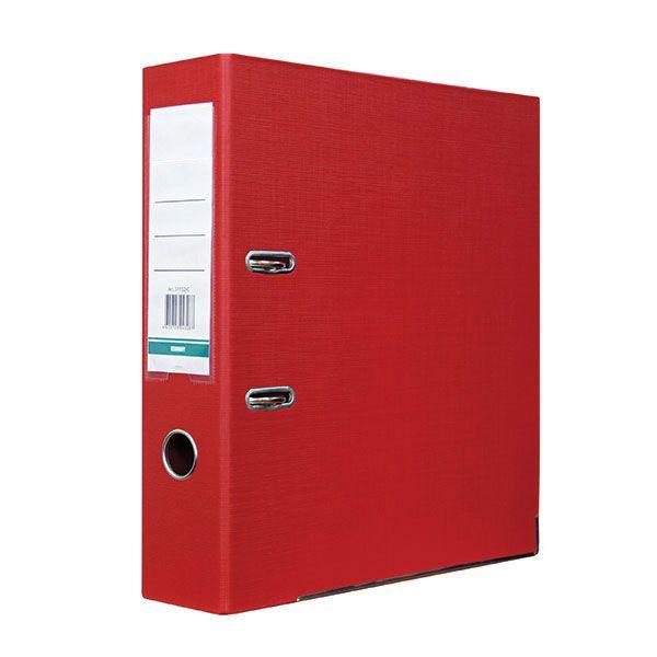 Папка-регистратор 80 мм ПВХ-ЭКО красная