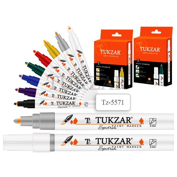 Маркер-краска Tukzar Spectrum Белый 2мм, пулевидный наконечник