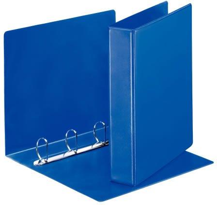 Папка-регистратор А4 на 4 кольца ламинир. синяя