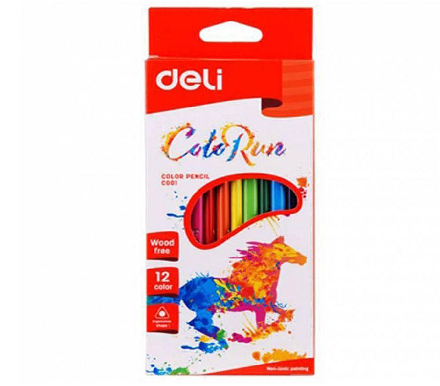 Карандаши цветные пластиковые 12цв. в карт. упак., арт.С00100