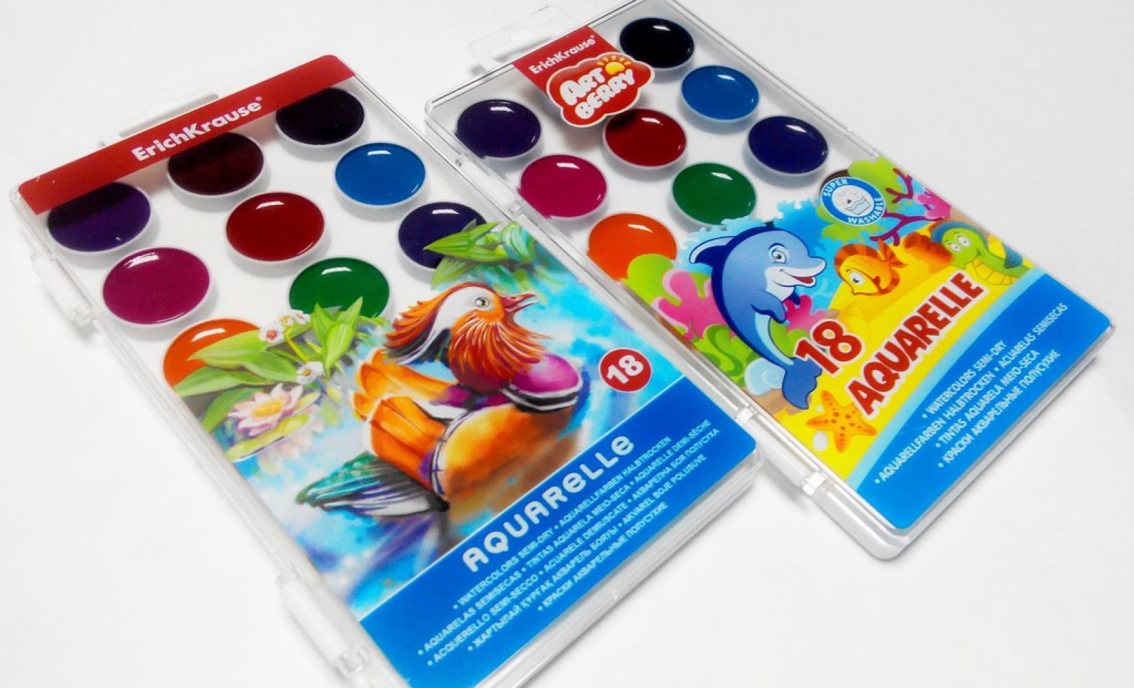 Краски акварельные медовые ArtBerry 18 цветов, арт. 35114
