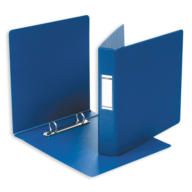 Папка на 4 кольца А5 (35 мм) пластик синяя