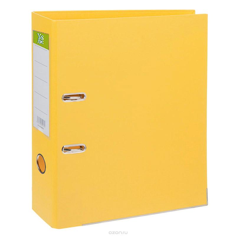 Папка-регистратор 75 мм ПВХ жёлтый