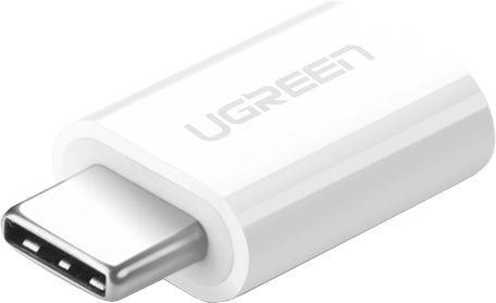 Адаптер UGREEN US157 USB-C 3.1 - Micro USB, цвет белый