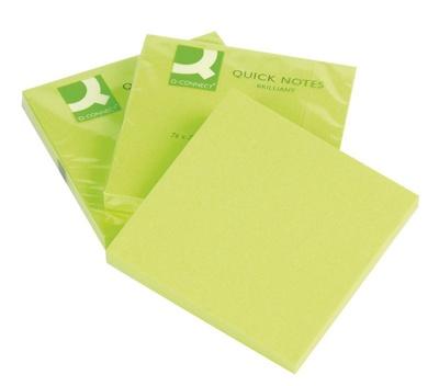 Бумага для заметок 76х76 мм Q-CONNECT 75л., зелёный неон