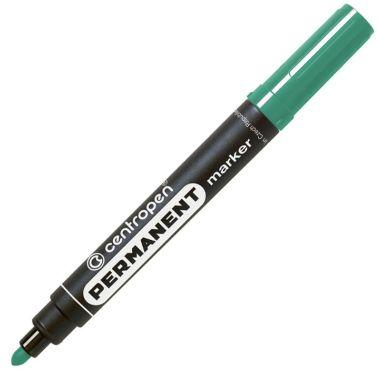 Маркер перманентный Centropen широкий 2,5 мм зеленый арт.8566 0110