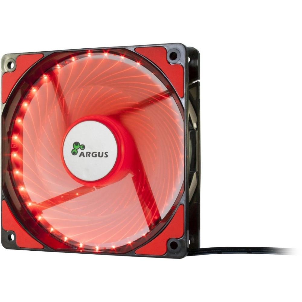 Вентилятор для корпуса InterTech Argus L-12025 RD LED 120 mm. Red