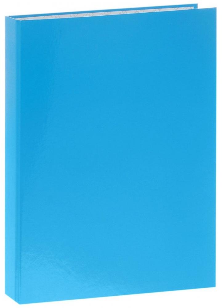 Папка-регистратор А4 на 2 кольцах, ламинированная, голубой неон