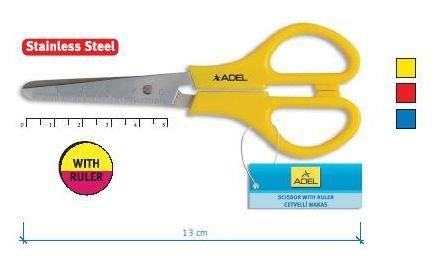 Ножницы ADELE 13 см с линейкой арт.4012145800