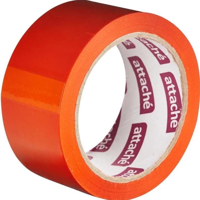 Лента упаковочная клейкая 57 м х 48 мм, оранжевая