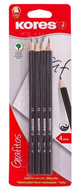 Набор простых карандашей Grafitos, ТМ, 4 штуки