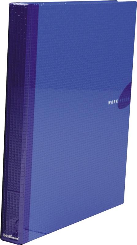 Папка-регистратор A4 на 4 кольца, Work Inside, ламинированная, синяя