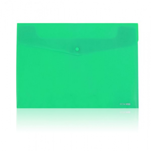 Папка-конверт B5 на кнопке, 240x190, зелёная (КнК-B5-A)