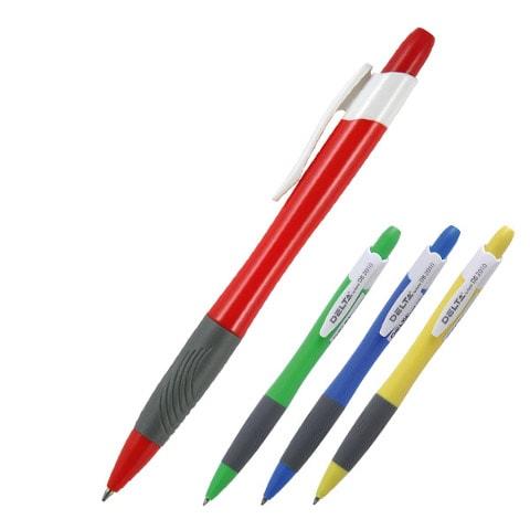 Ручка шариковая автоматическая Axent Delta 2010DB, 0.7мм, синяя, корпус ассорти
