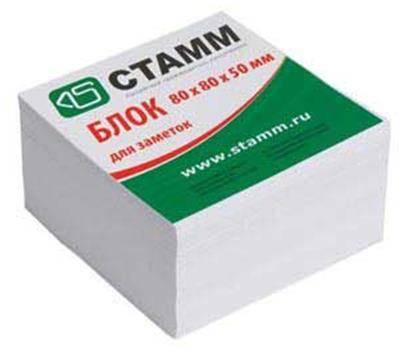 Блок бумажный для заметок 80x80 мм, белый