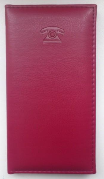 Книга телефонная 95х175 мм, ламинированная, бордо