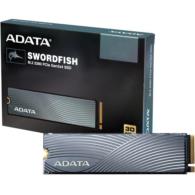 Накопитель SSD M.2 2280 ADATA 500GB ADATA SWORDFISH Client SSD |ASWORDFISH-500G-C|