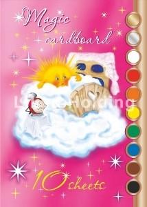 Набор цветного картона 10 цв.(10л.) арт.ЦКВ 302
