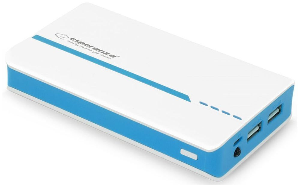 Аккумулятор внешний ESPERANZA ATOM 11000 white/blue