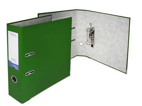 Папка-регистратор 75 мм ПВХ зелёный