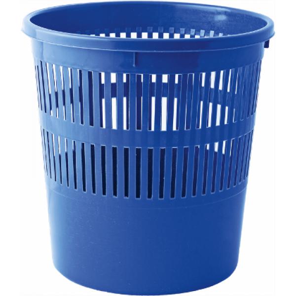 Корзина для бумаг синяя