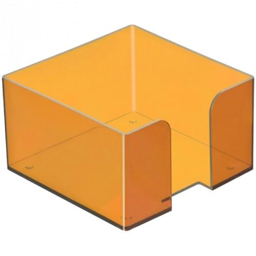Бокс для бумажного блока Манго, тонированный (90x90 мм)