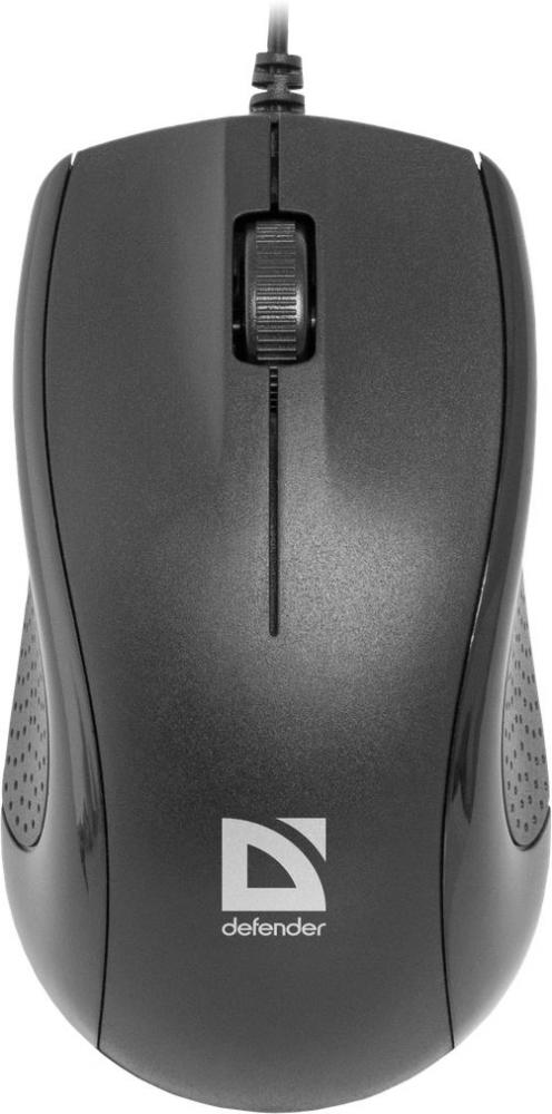 Мышь проводная оптическая Defender Optimum MB-160, черный
