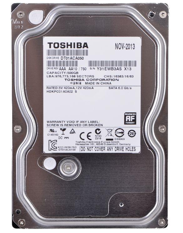 Жесткий диск 500Гб Toshiba DT01ACA050