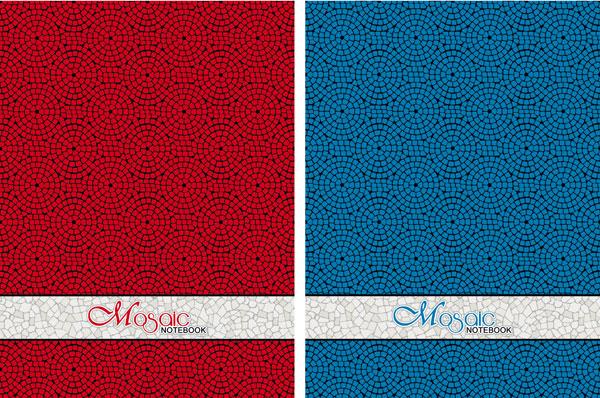 Блокнот 80 листов, евроформат 205x145, Mosaic